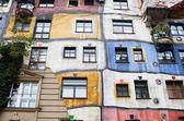 The Hundertwasserhaus is an apartment house — Stock Photo