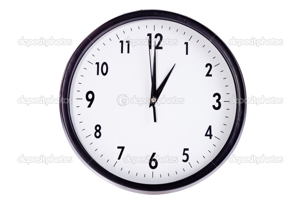 Wall clock, photo on the white background — Stock Photo #7957990