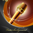 Royalty-Free Stock Vector Image: Background with a microphone