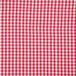 Real white and red tablecloth - Stock Photo