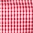 Real white and red tablecloth — Stock Photo