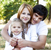 Young family outdoor. — Foto Stock