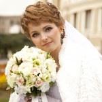 Bride near an opera theater — Stock Photo #7317052