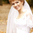 Beautiful bride in the park. — Stock Photo #7317059