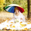 Beautiful bride in the park — Stock Photo #7317070