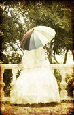 Beautiful bride in the park. — 图库照片