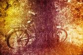 Bike near tree. — Stock Photo
