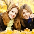 Two girls at outdoor in the park — Stock Photo #7539636