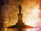 Duc de Richelieu statue in Ukraine, Odessa. — Stock Photo