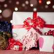Christmas gift box with christmas balls — Stock Photo #7578165