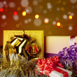 Christmas gift box with christmas balls — Stock Photo #7578170