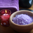 Stock Photo: Lavender bath salt