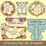 Label art nouveau — Stockvector  #7213559
