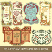 Label art nouveau — Vettoriale Stock