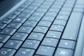 Keyboard layout from the laptop — Stock Photo