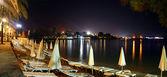 красивая ночь берег моря — Стоковое фото