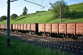 Structure of cars of a cargo train — Stock Photo