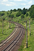 Railway background — Stock Photo