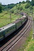 структура вагонов поезда — Стоковое фото