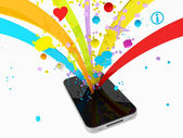 Smartphone multimedia — Stock Photo
