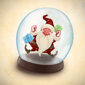 Santa Claus in snowball — Stock Photo