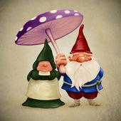 Spouses gnomes — Stock Photo