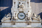 Clock details on Paris city hall - France — Stok fotoğraf