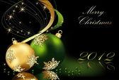 Fondo de navidad feliz — Vector de stock