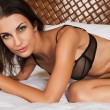 Black lingerie — Stock Photo