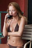 Knit bikini — Stock Photo