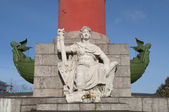 Sculpture at the foot of the south of the rostral columns. Saint-Petersburg — Stock Photo