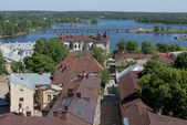 Old Vyborg. A view of the street of the Water gate — Stock Photo