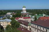 Old Vyborg. A kind from the Hour tower. — Stock Photo