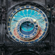Astronomical clock in the center square of Prague — Stock Photo #7280590