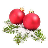 Christmas balls isolated — Stock Photo