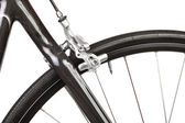 Detail of road bicycle isolated — Stock Photo