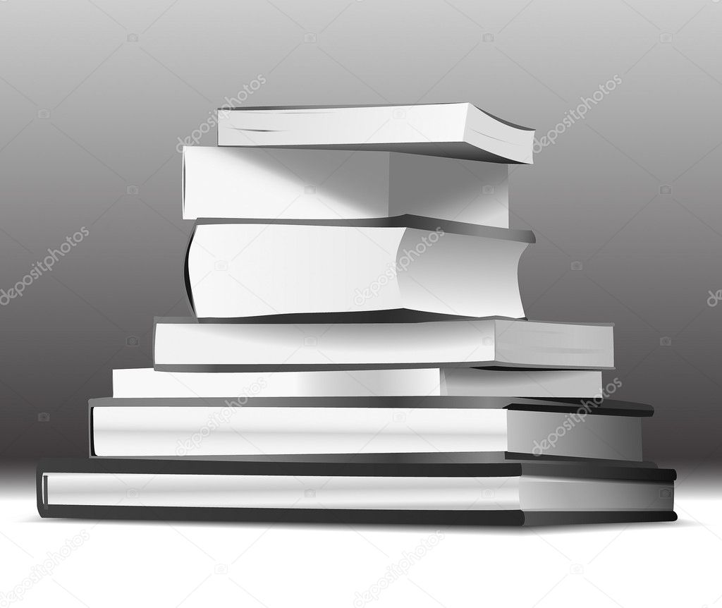Stack of books — Stock Vector #7867224