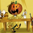 Pumpkin at the bar - Image vectorielle
