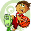 Kid with ball — Stock Vector #7343181