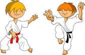 Karate kid — Stock Vector