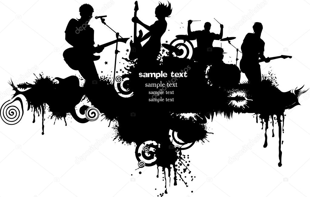 Abstract music background for music event design. vector illustration; — Stock Vector #7596620