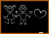 Blackboard любовь — Cтоковый вектор