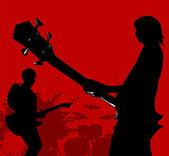 ベースギター — ストックベクタ