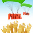 Win prize — Stock Photo