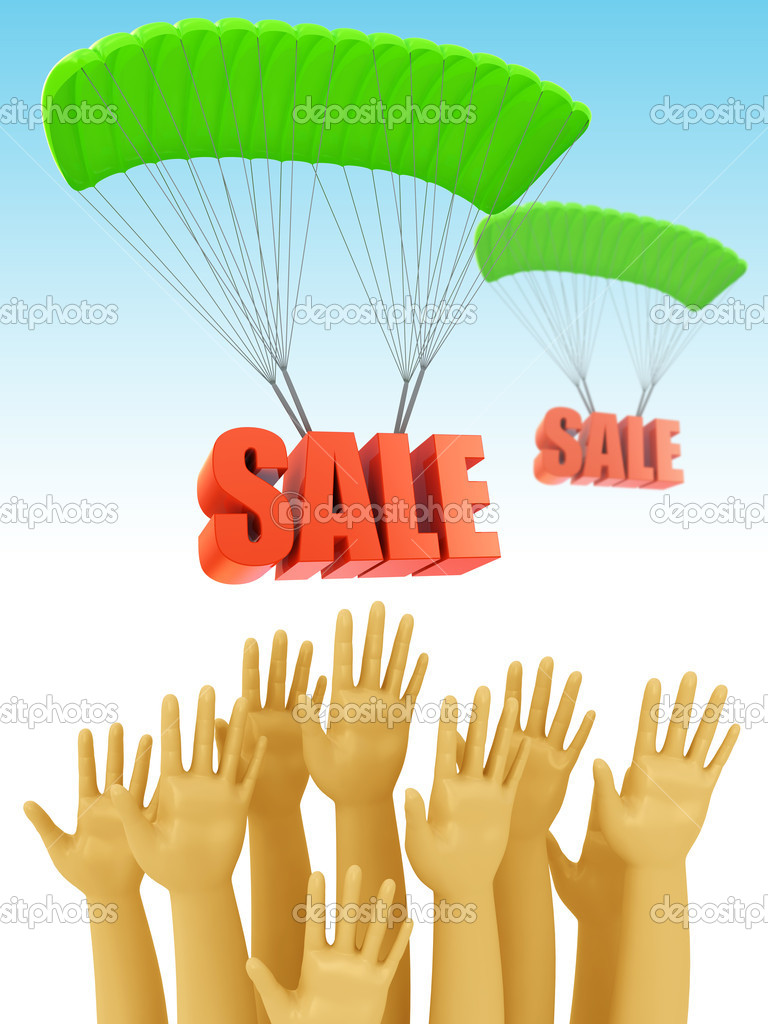 Sale season opening 3d concept — Stock Photo #6748005