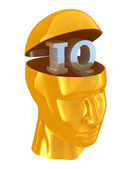 IQ intelligence quotient — Stock Photo