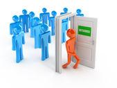 Outsource 3d concept — Stock Photo