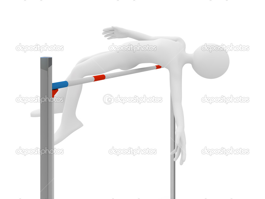 Athlete jump over barrier — Stock Photo #7223275
