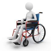 Handicapped person in wheelchair — Stock Photo
