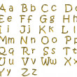 Golden alphabet — Stock Photo #6830217